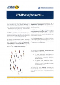 BROCHURE PRESENTATION miniature UFSBD IN THE WORLD p