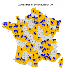 Carte interventions CFA